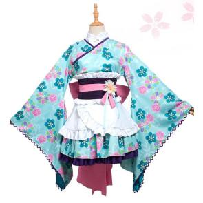 Puella Magi Madoka Magica Sayaka Miki Kimono Cosplay Costume
