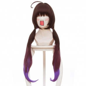 Brown 80cm The Ryuo's Work is Never Done! Ai Hinatsuru Cosplay Wig