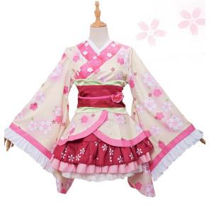 Puella Magi Madoka Magica Kyoko Sakura Kimono Cosplay Costume
