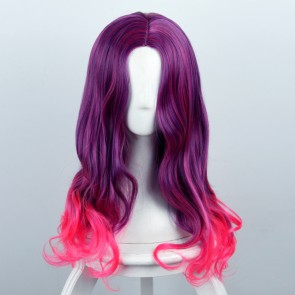 Purple And Pink 60cm Guardians of the Galaxy Gamora Cosplay Wig