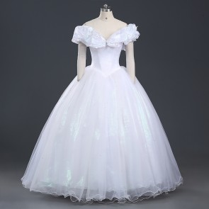 Deluxe Cinderella White Dress Cosplay