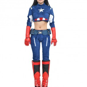 Captain America Female Cosplay Costume