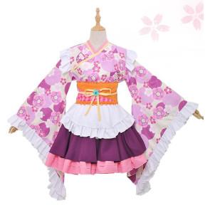 Puella Magi Madoka Magica Homura Akemi Kimono Cosplay Costume