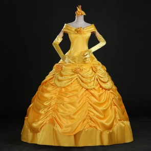 Disney Deluxe Beauty and the Beast Belle Dress Cosplay Costume