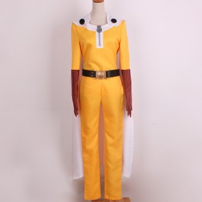 One-Punch Man Saitama Caped Baldy Hagemanto Cosplay Costume - Version 2