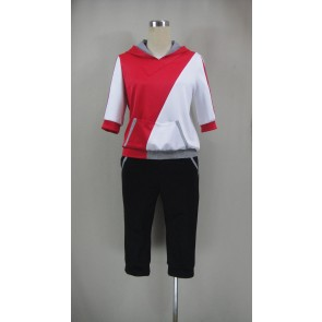 Pokemon Go Male Trainer Red Cosplay Costume