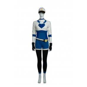 Pokemon Go Female Trainer Blue Suit Cosplay costume