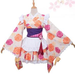 Puella Magi Madoka Magica Mami Tomoe Kimono Cosplay Costume
