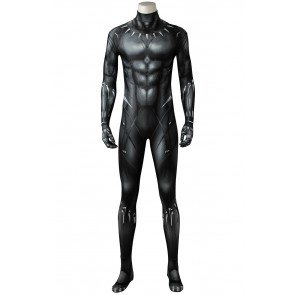 2018 Movie Black Panther Jumpsuit Cosplay Costume