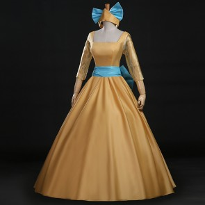 Anastasia Yellow Dress Cosplay Costume
