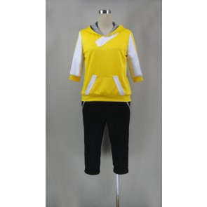 Pokemon Go Male Trainer Yellow Cosplay Costume