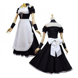 Puella Magi Madoka Magica Mami Tomoe Maid Cosplay Costume