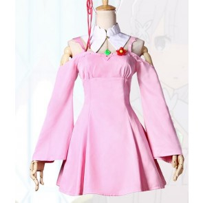 Re:Zero - Starting Life in Another World Emilia Pink Dress Cosplay Costume