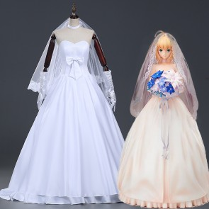 Fate/Zero Saber 10th Anniversary Dress Cosplay Costume