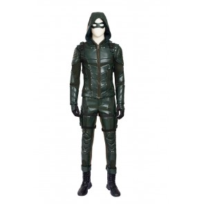 Arrow Season 5 Oliver Suit Cosplay costumeWith Boots