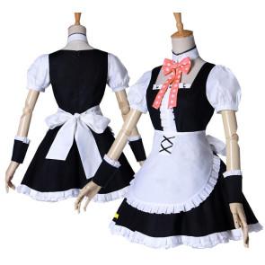 Puella Magi Madoka Magica Madoka Kaname Maid Cosplay Costume