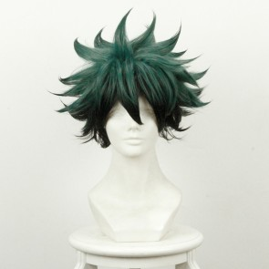 Green and Black 35cm My Hero Academia Izuku Midoriya Deku Cosplay Wig