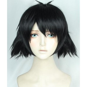 Black 35cm Steins;Gate Mayuri Shiina Cosplay Wig