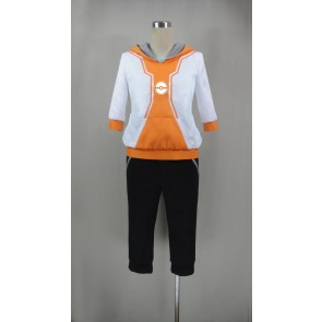 Pokemon Go Male Trainer Orange Cosplay Costume