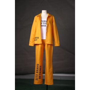Suicide Squad Harley Quinn Prison Suit Cosplay Costume