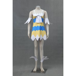 Fairy Tail Wendy Marvell Tiered Dress Cosplay Costume