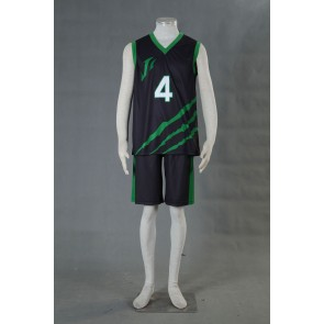 Kuroko no Basuke LAST GAME Team Jabberwock No.4 Cosplay Costume