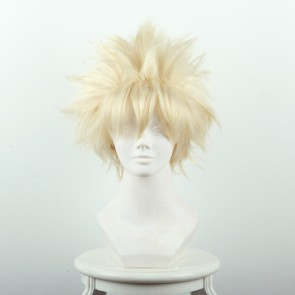 Light Yellow 35cm My Hero Academia Katsuki Bakugo Kacchan Cosplay Wig