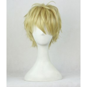 Gold 35cm Wanpanman One-Punch Man Genos Cosplay Wig