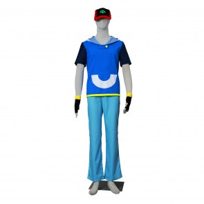 Pokemon Pocket Monsters Ash Katchum Cosplay Costume-A