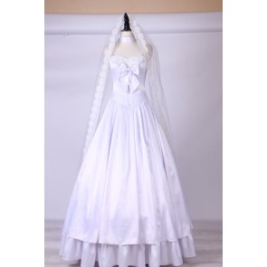 Fate/Zero Saber 10th Anniversary Wedding Dress Cosplay Costume Version 2