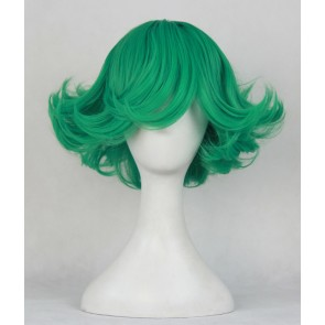 Green 42cm Wanpanman One-Punch Man Tornado Of Terror Cosplay Wig