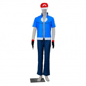 Pokemon Pocket Monsters Ash Katchum Cosplay Costume-B