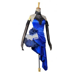 Fate/Extella Saber Blue Dress Cosplay Costume