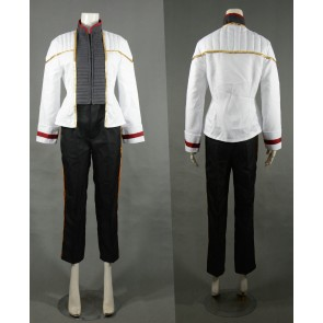 Star Trek: Insurrection Nemesis White Mess Dress Uniform Cosplay Costume