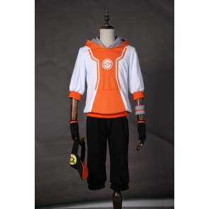 Pokemon Go Male Trainer Team Instinct Mystic Valor Orange Cosplay Costume