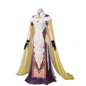Overwatch Mercy Angela Ziegler Cheongsam Cosplay Costume