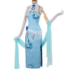 Little Witch Academia Diana Cavendish Cheongsam Cosplay Costume