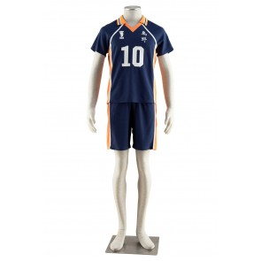 Haikyuu!! Shoyo Hinata Karasuna High School NO. 10 Sports Uniform Cosplay Costume