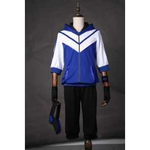 Pokemon Go Male Trainer Team Instinct Mystic Valor Blue Cosplay Costume