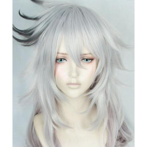 Silver And Black 70cm Fate/Apocrypha Siegfried Cosplay Wig