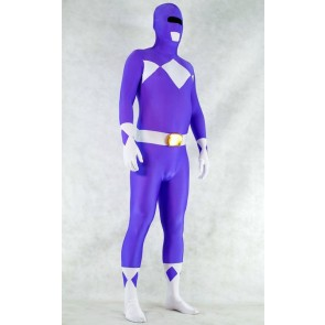 Purple Spandex Power Rangers Superhero Zentai Bodysuit Costume