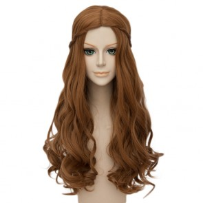Brown 60cm Alice in Wonderland 2 The White Queen Alice Cosplay Wig