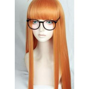 Orange 100cm Persona 5 Futaba Sakura Cosplay Wig