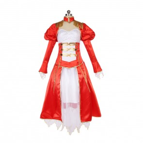 Fate/Extra Red Saber Nero Cosplay Costume