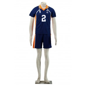 Haikyuu!! Koshi Sugawara Karasuna High School NO. 2 Sports Uniform Cosplay Costume