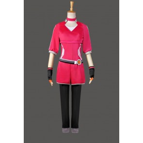 Pokemon Go Female Trainer Team Instinct Mystic Valor Red Shirt Cosplay Costume