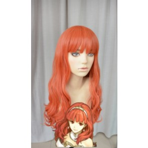 Orange 60cm Fire Emblem Echoes: Shadows of Valentia Cosplay Wig