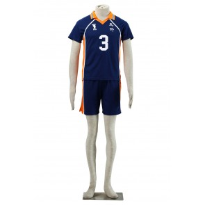 Haikyuu!! Asahi Azumane Karasuna High School NO. 3 Sports Uniform Cosplay Costume