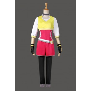 Pokemon Go Female Trainer Team Instinct Mystic Valor Yellow Shirt Cosplay Costume