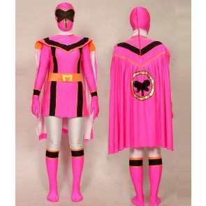 Pink Power Rangers Mystic Uniform Spandex Zentai Costume